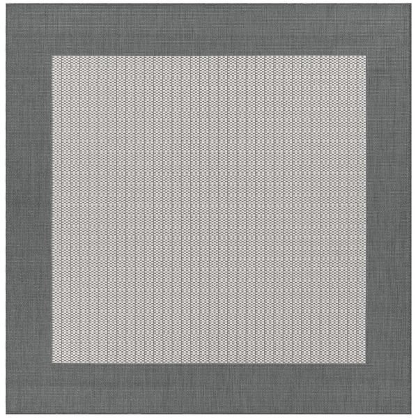 Checked Black Grey Rug: Shop Recife Checkered Field Grey/ White Indoor/Outdoor
