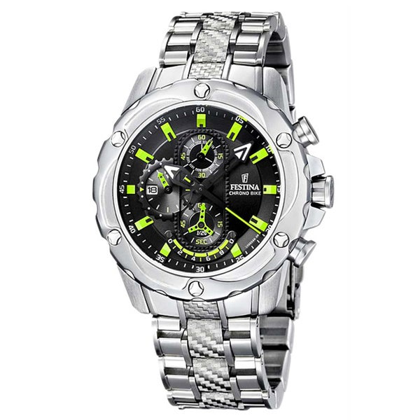 Festina Men's Stainless Steel Green/Black Quartz Watch