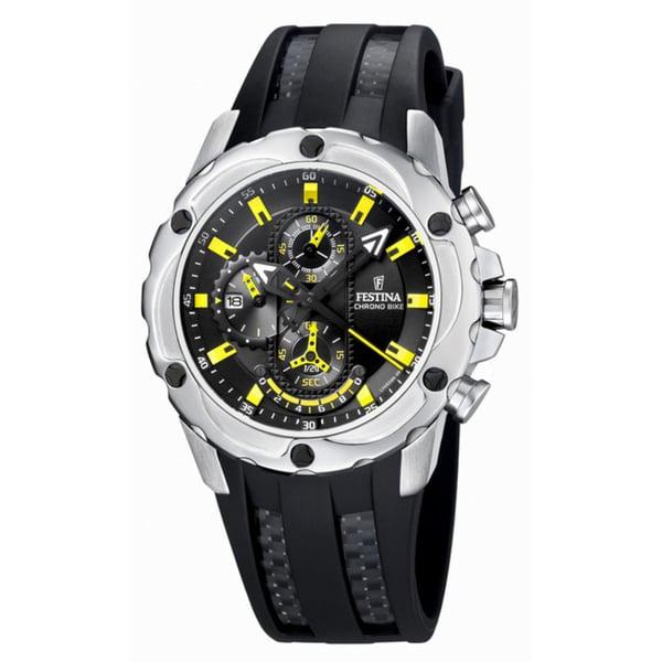 Festina Men's Black/ Yellow Quartz Watch