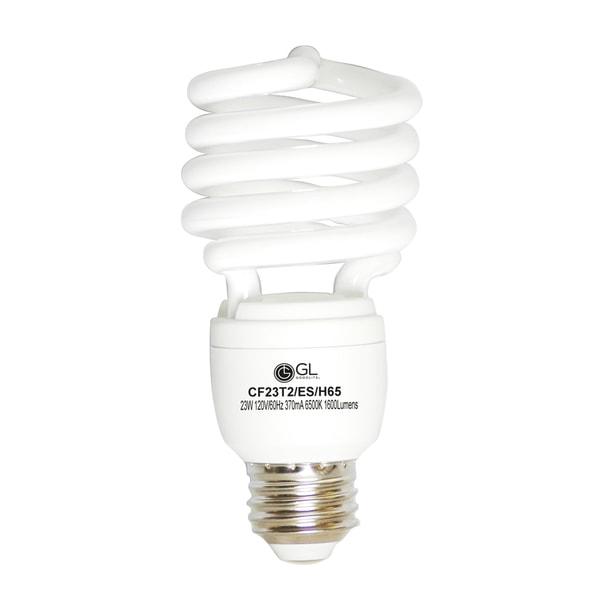 Goodlite G-10853 23-Watt CFL 1600-Lumen Daylight T2 Spiral Light Bulbs (Pack of 25)