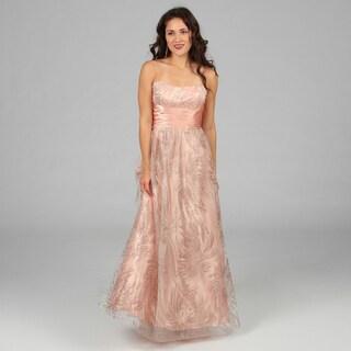 peach junior bridesmaid dresses