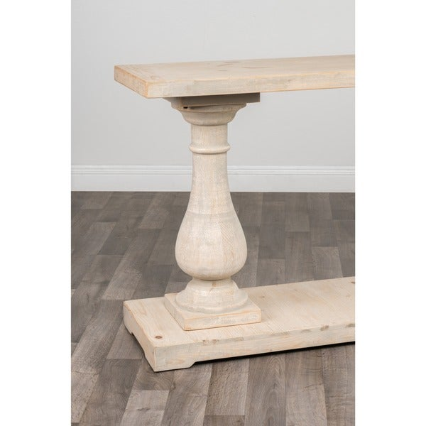 Wilson Antique White Reclaimed Pine Console Table By Kosas Home   Free  Shipping Today   Overstock.com   15117091