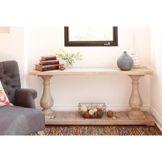 Wilson Antique White Reclaimed Pine Console Table by Kosas Home