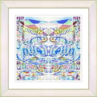 Studio Works Modern Zhee Singer 'Stella Home - Blue' Framed Print