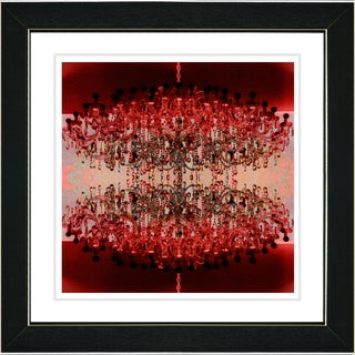 Studio Works Modern 'Red Embracing Chandeliers' Framed Fine Art Giclee Print