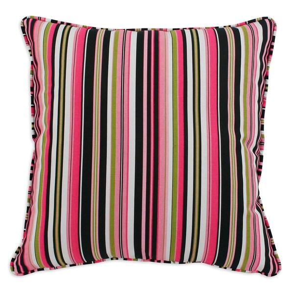 Beach Umbrella Stripe 17x17-inch Corded Pillows (Set of 2)