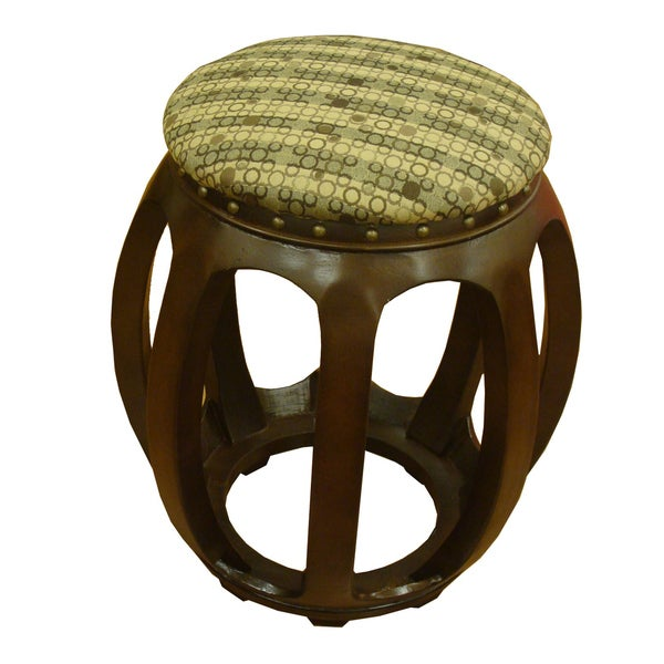 Wood Carved Accent Furniture Ottoman