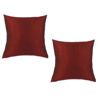 Hues Claret Red 17x17-inch Decorative Pillows (Set of 2)
