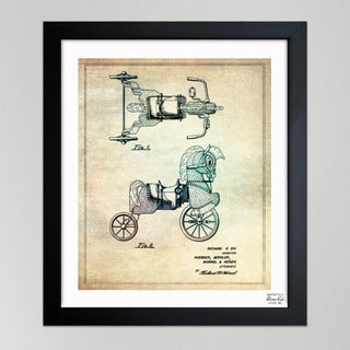 Oliver Gal 'Dix, Horse Carriage, 1952' Framed Paper Wall Decor