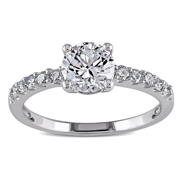 Miadora Signature Collection 14k White Gold 1 1/6ct TDW Diamond Ring