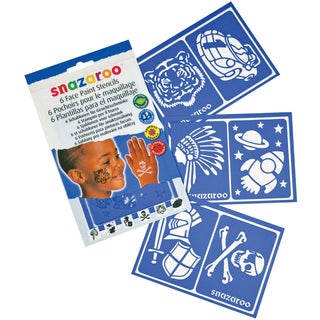 Snazaroo Face Painting Stencils Boys Adventure (Pack of 6)
