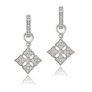 DB Designs Sterling Silver 1/10 ct TDW Diamonds Dangle Earrings (J, I3)