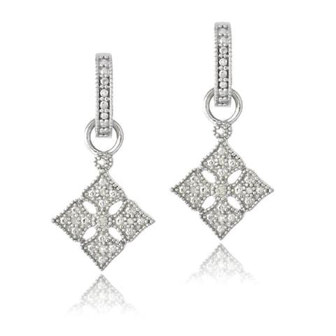 DB Designs Sterling Silver 1/10 ct TDW Diamonds Dangle Earrings
