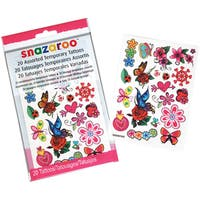 Snazaroo Flowers, Hearts & Butterflies Temporary Tattoos
