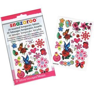 Snazaroo Flowers, Hearts & Butterflies Temporary Tattoos