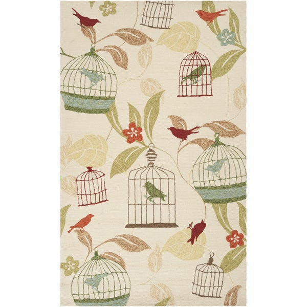 Hand-hooked Canaries Antique White Indoor/Outdoor Area Rug (8' x 10')