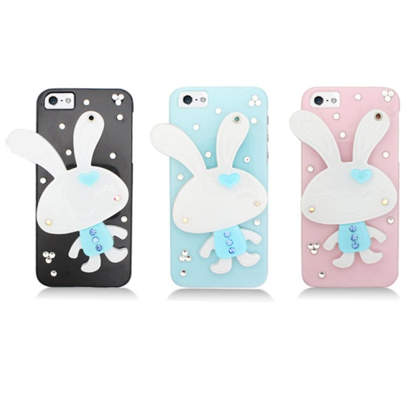 Apple iPhone 5 Sparkling Bunny Compact Mirror Designer Case
