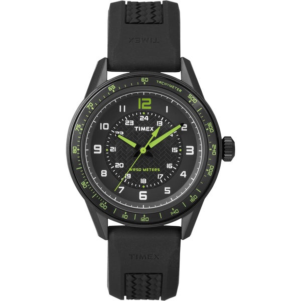 Timex Men's T2P024 Fashion Sport Black Silicone Strap Watch