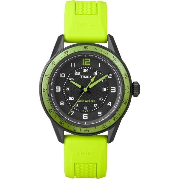 Timex Men's T2P025 Fashion Sport Green Silicone Strap Watch