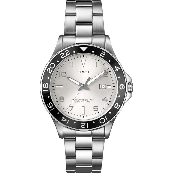 Shop Timex Men s T2P027 Fashion Sport White Sunray Dial Stainless Steel  Bracelet Watch - Free Shipping Today - Overstock.com - 7712016 67219129773