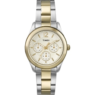 Timex T2P067KW Women's Ameritus Multifunction Two-Tone Stainless Steel Bracelet Watch