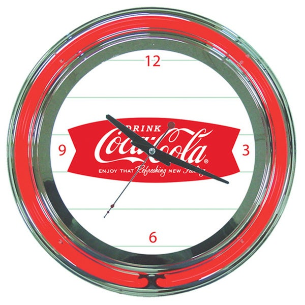 Coca Cola Refreshing Feeling Neon Clock