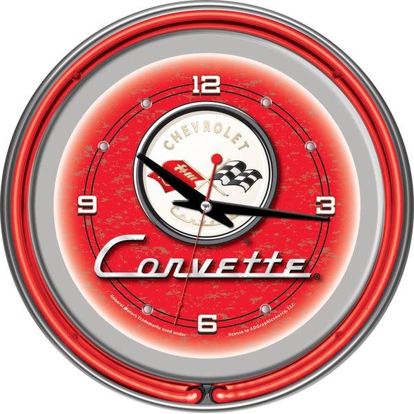 Corvette C1 Red Neon Clock