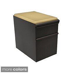 Mobile Storage Box/File Pedestal with Forsythia Seat