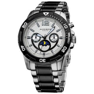 Akribos XXIV Men's Swiss Quartz Divers Multifunction Two-Tone Bracelet Watch with FREE GIFT - White|https://ak1.ostkcdn.com/images/products/7712110/7712110/Akribos-XXIV-Mens-Swiss-Quartz-Divers-Multifunction-Bracelet-Watch-P15117391.jpg?impolicy=medium
