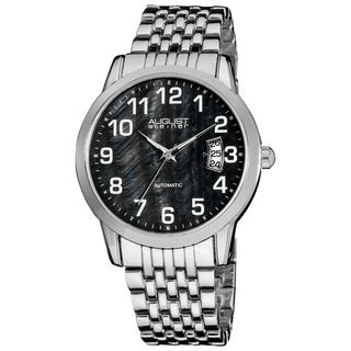 August Steiner Men's Automatic Stainless Steel Black Bracelet Watch