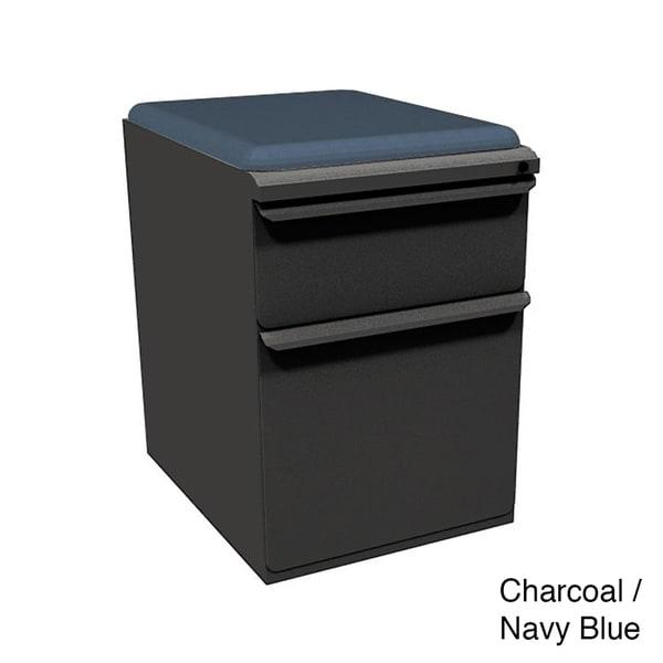 Mobile Storage Box/File Pedestal with Seat
