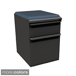 Mobile Storage Box/File Pedestal with Seat