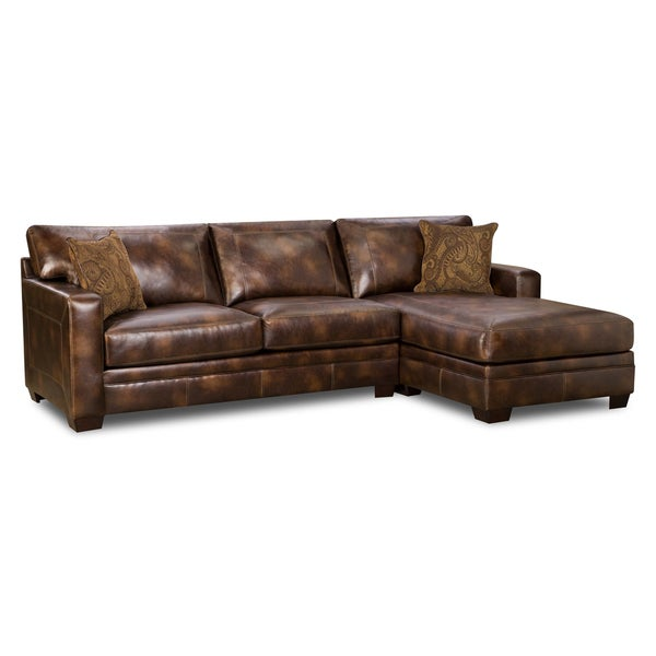 Nubuck Harvest Bonded Leather Sectional Free Shipping