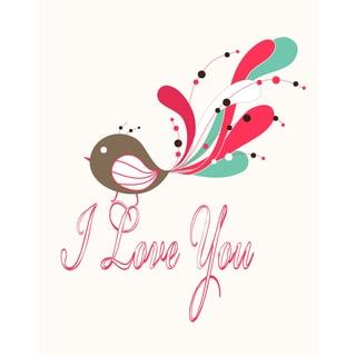 'I Love you Bird' Print Art