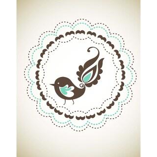 'Floral Bird' Print Art