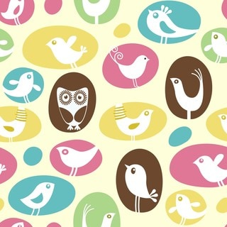 'Bird and Owl Circle' Print Art