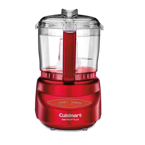 Cuisinart DLC-2AMR Metallic Red 3-cup Mini-Prep Plus Processor