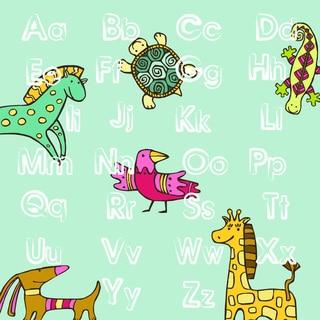 'Animal ABC' Print Art