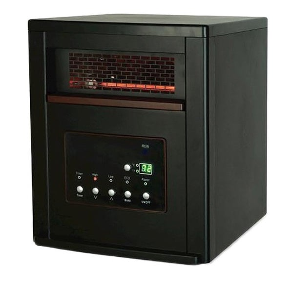 Smart+ Products Black 1000 Square Foot Quartz Infrared Portable Electric Heater