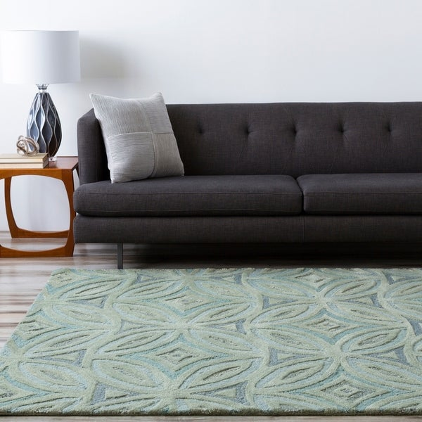 Hand-tufted Green English Ivy Floral Wool Area Rug - 9' x 13'