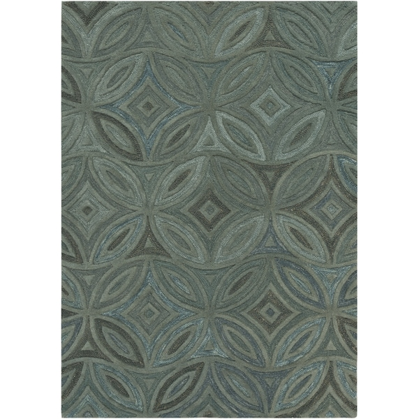 Hand-tufted Green English Ivy Floral Wool Area Rug - 5' x 8'