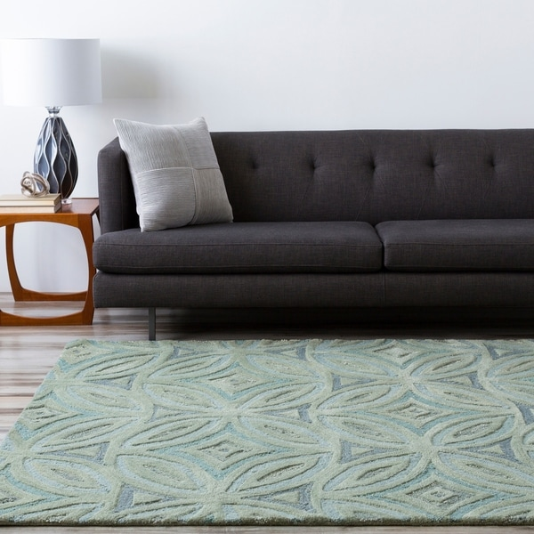 Hand-tufted Green English Ivy Floral Wool Area Rug - 8' x 11'