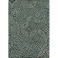Hand-tufted Green English Ivy Floral Wool Area Rug (3'3 x 5'3)
