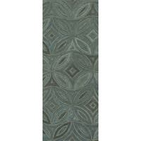 "Hand-tufted Green English Ivy Floral Wool Area Rug - 2'6"" x 8'"