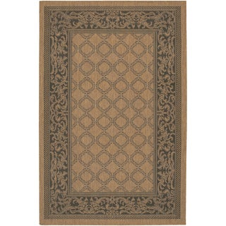 Recife Garden Lattice Cocoa-Black Indoor/Outdoor Rug (3'9 x 5'5)