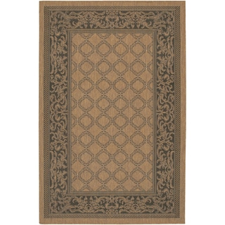 Recife Garden Lattice Cocoa/ Black Runner Rug (2' x 3'7)