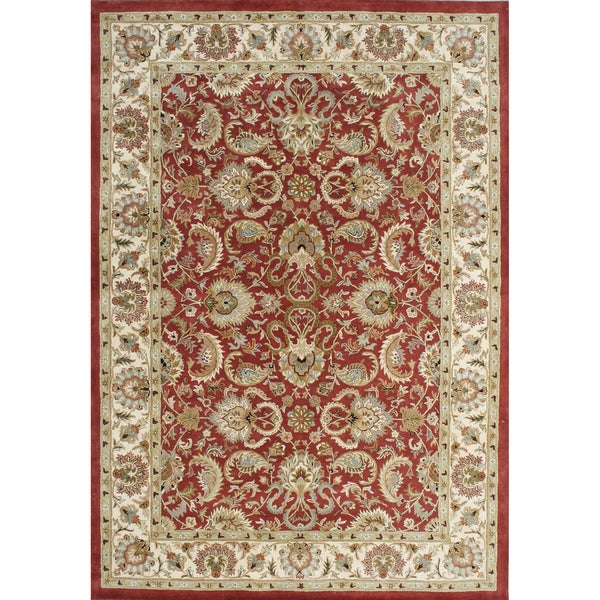 Alliyah Hand-made Wool Soft Red Persian Rug (10'x14')