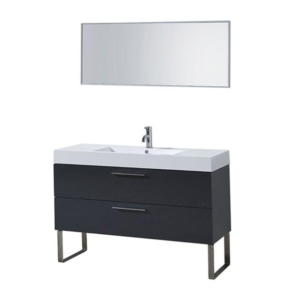 65 Inch Bathroom Vanity Single Sink: Shop Francis 48-inch Single-sink Bathroom Vanity Set