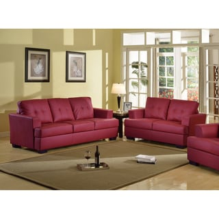 Nova Red Sofa and Love Seat