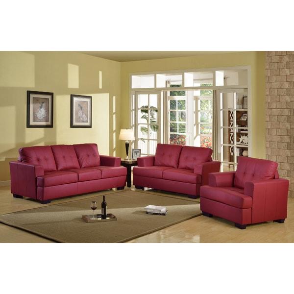 Overstock Living Room Sets: Shop Nova Red 3-piece Living Room Set